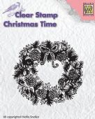 Nellie Snellen - Christmas Time Clear Stamp - Wreath - CT013